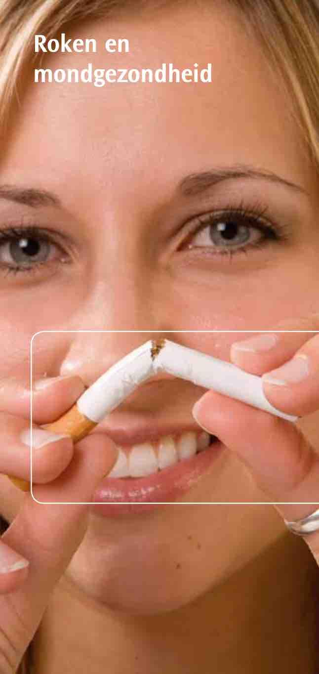 Informatiefolder Ivoren Kruis Roken en mondgezondheid